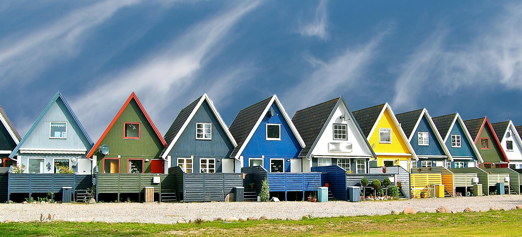 Покраска фасадов домов и коттеджей варианты цветового